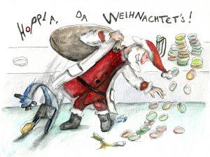 Weihnachtskarte_Mikrobiologie_Monika Lodderstaedt-Dürr